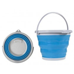 Skládací silikonový kbelík s držadlem VERK 15347