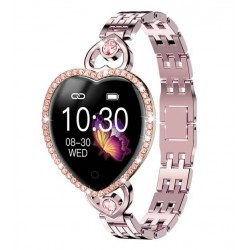 Diamantové dámské srdíčkové chytré hodinky T52S