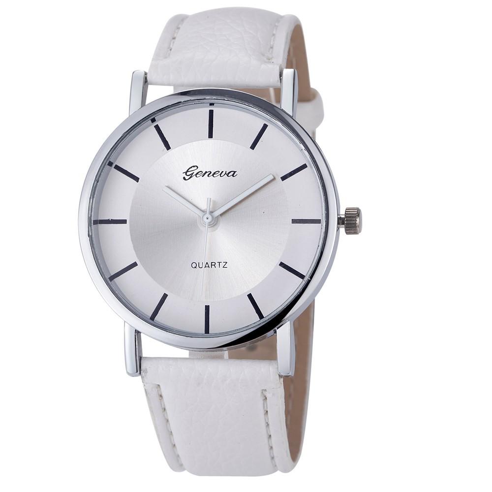 Genvivia Dámské ručičkové hodinky - Bílá