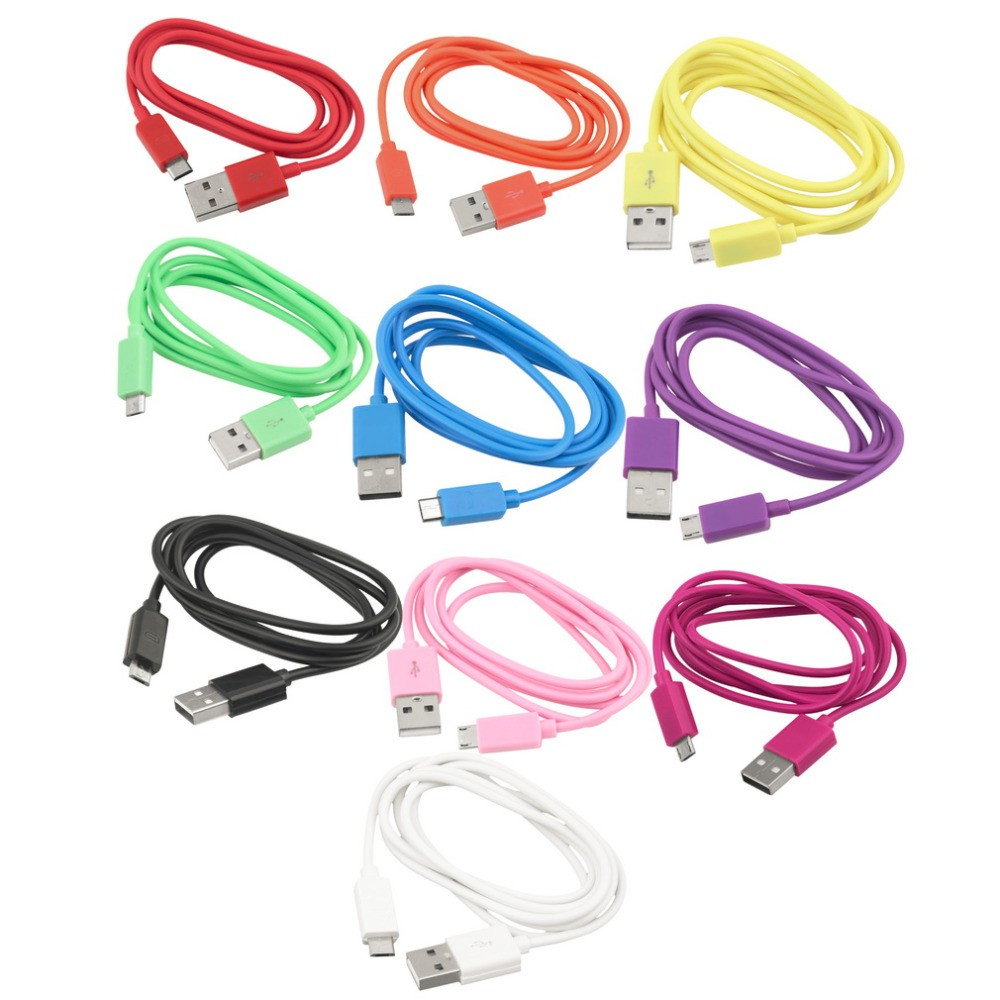 Kabel micro USB 1m - Růžová