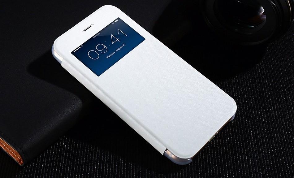 Kisscase plastovy obal s klipem iPhone 7 - Bílá