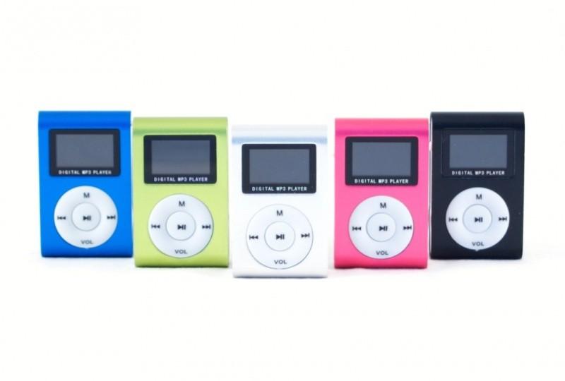 Mini MP3 přehrávač s displejem - Černá