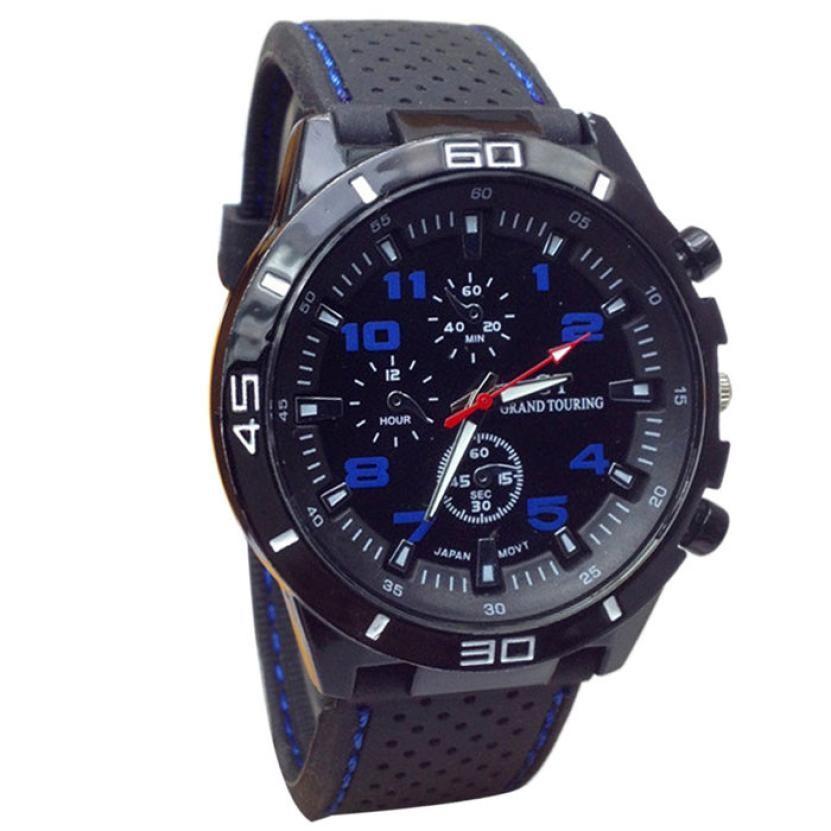Mans Pánské hodinky gumovy reminek - Modrá