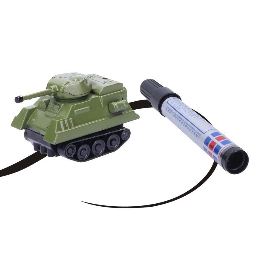 Indukční autíčko s magickým fixem - Tank Zeleny