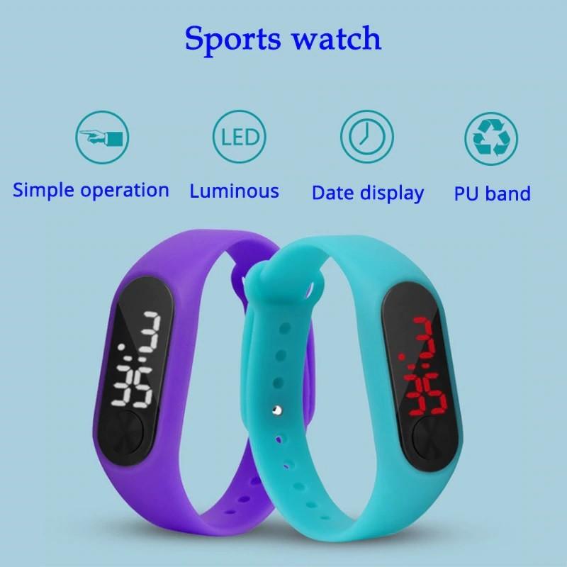 Dětské sportovní hodinky Xia led - Černá d60456b39e