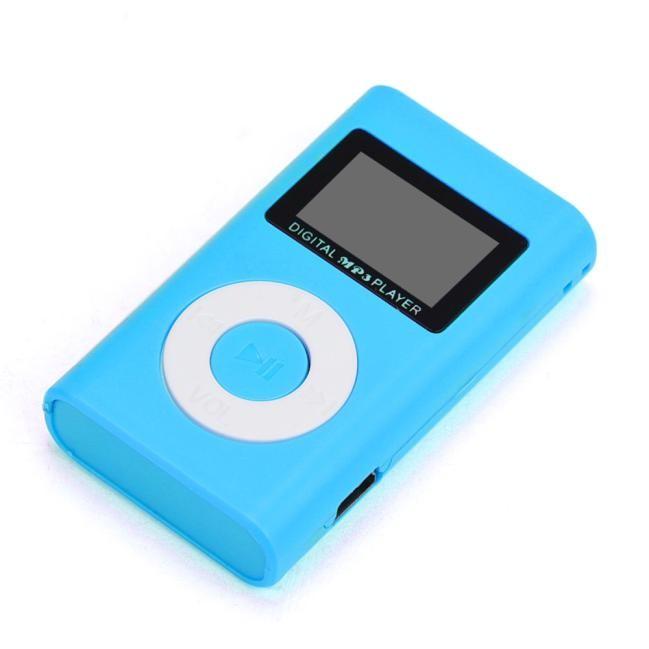 Mini MP3 Player s LCD - Modrá