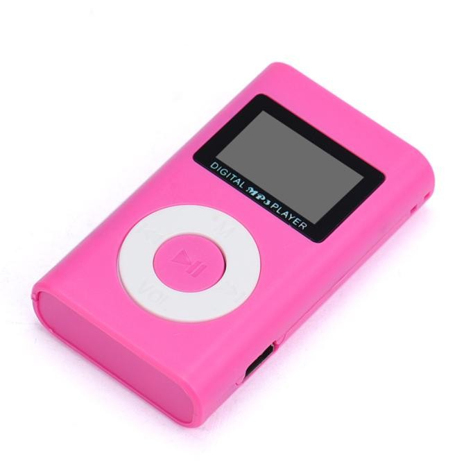 Mini MP3 Player s LCD - Růžová