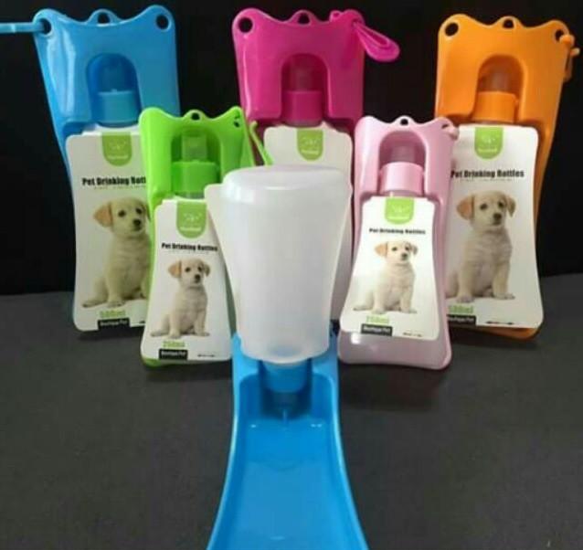 Cestovní láhev pro psy - Růžová