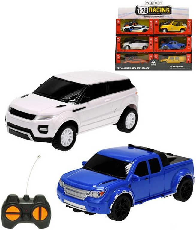 RC Auto osobní 1:28 16cm 27MHz na vysílačku na baterie 6 druhů - Modrá