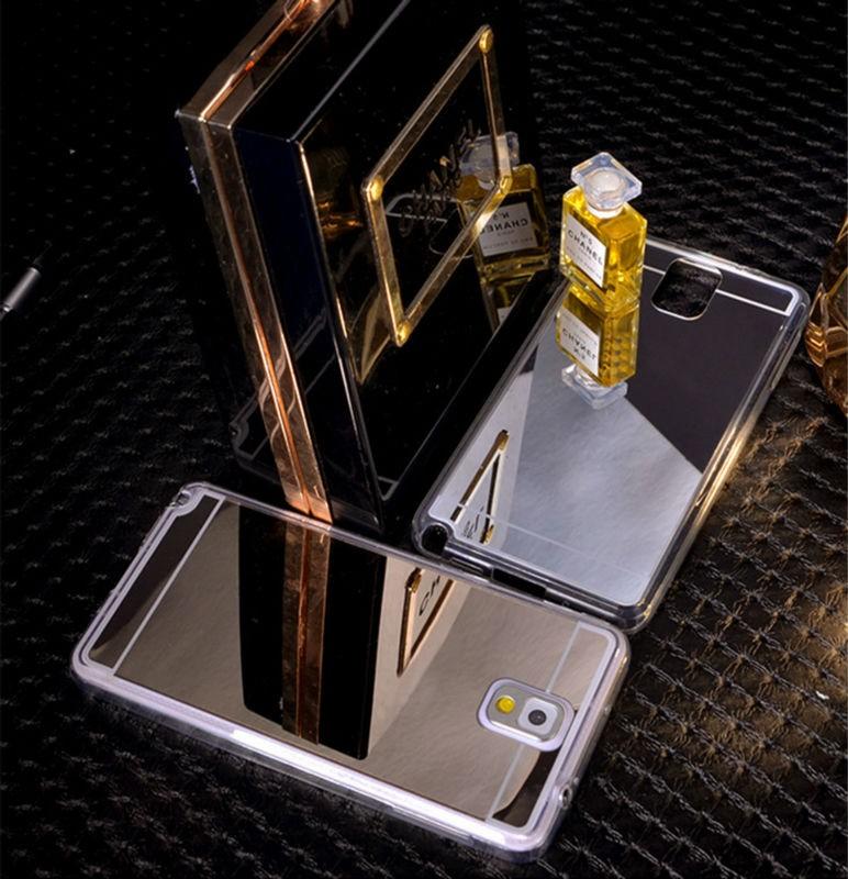 Silikonovy zrcadlový kryt Samsung A5, J5, A7, J7, S6, S6E, S7, S7E - A5 / Zlatá
