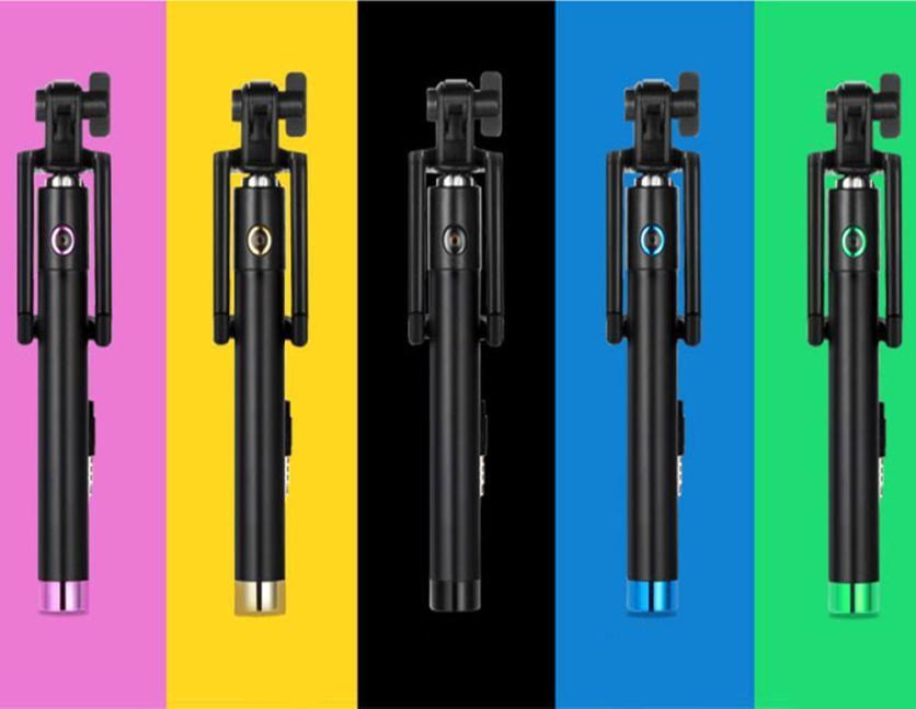 Skládací selfie tyč - Modrá