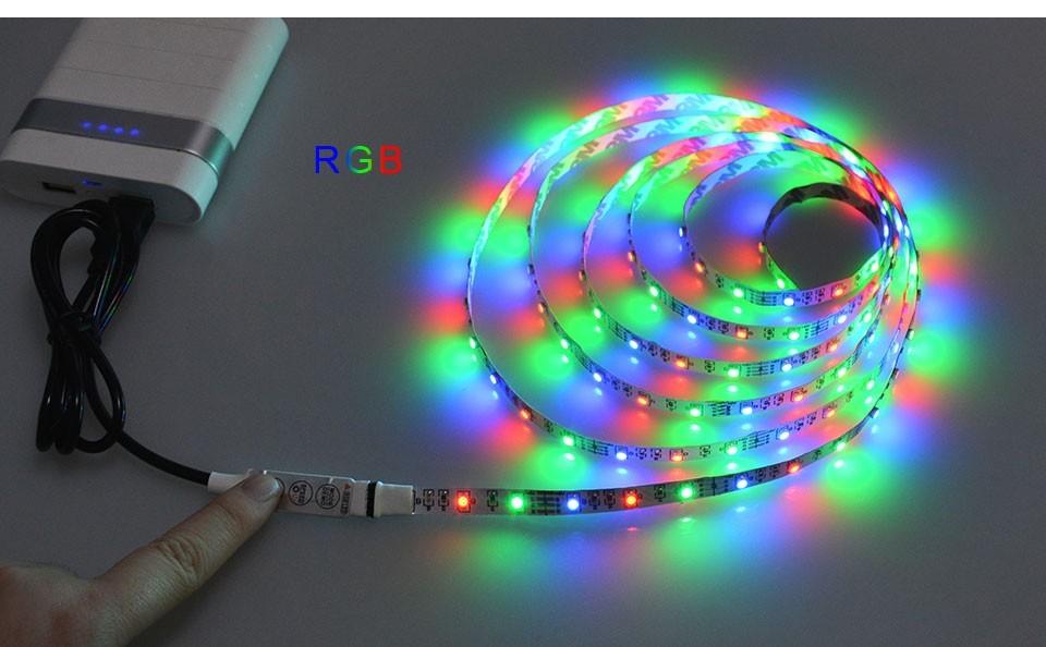 USB Led světelný pásek 2m - Color