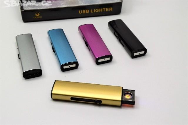 OUTAD USB Zapalovač - Stříbrná