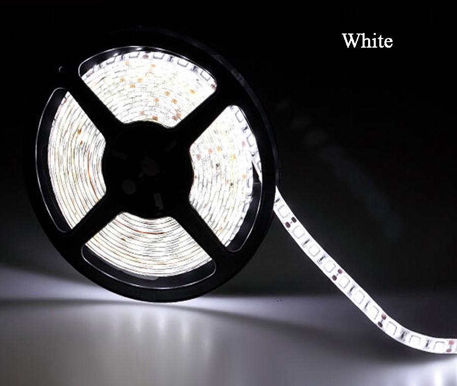 LED pásek 5m sada, studená + zdroj - White