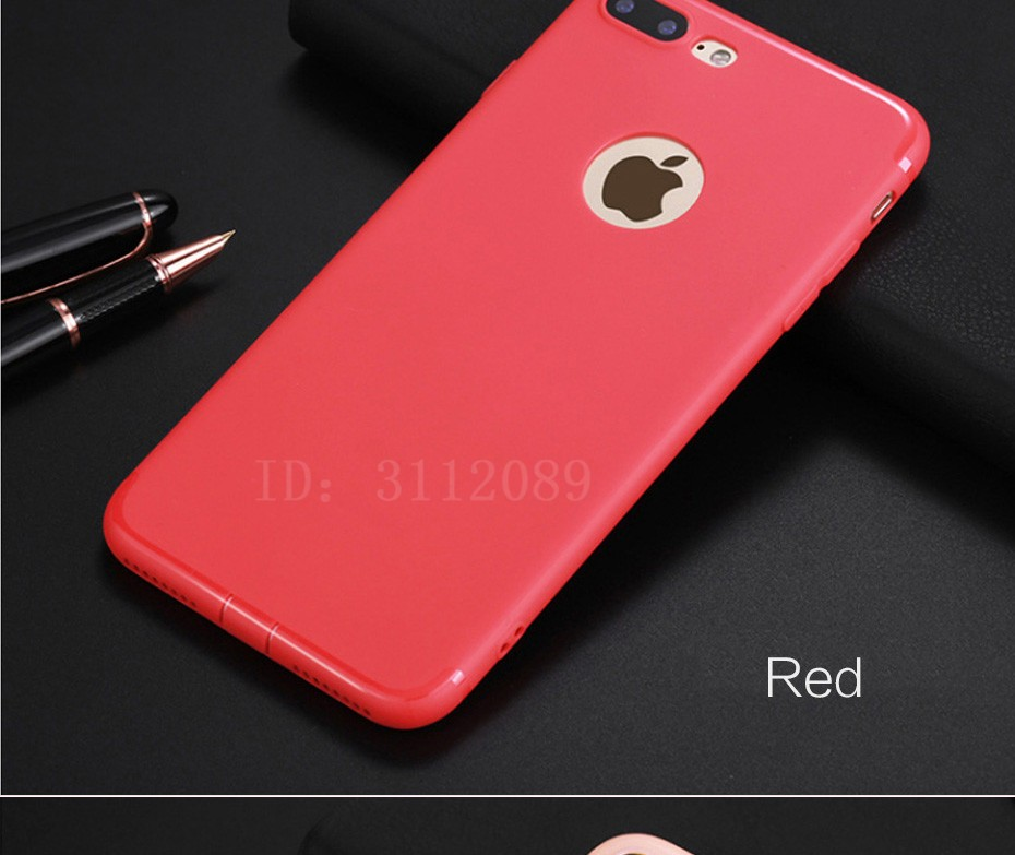 Bumper Silikonový Matný kryt na iPhone 6, 6S, 7 - iPhone Plus 6 6S / Červená