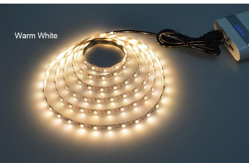 USB Led světelný pásek 1m - Warm White