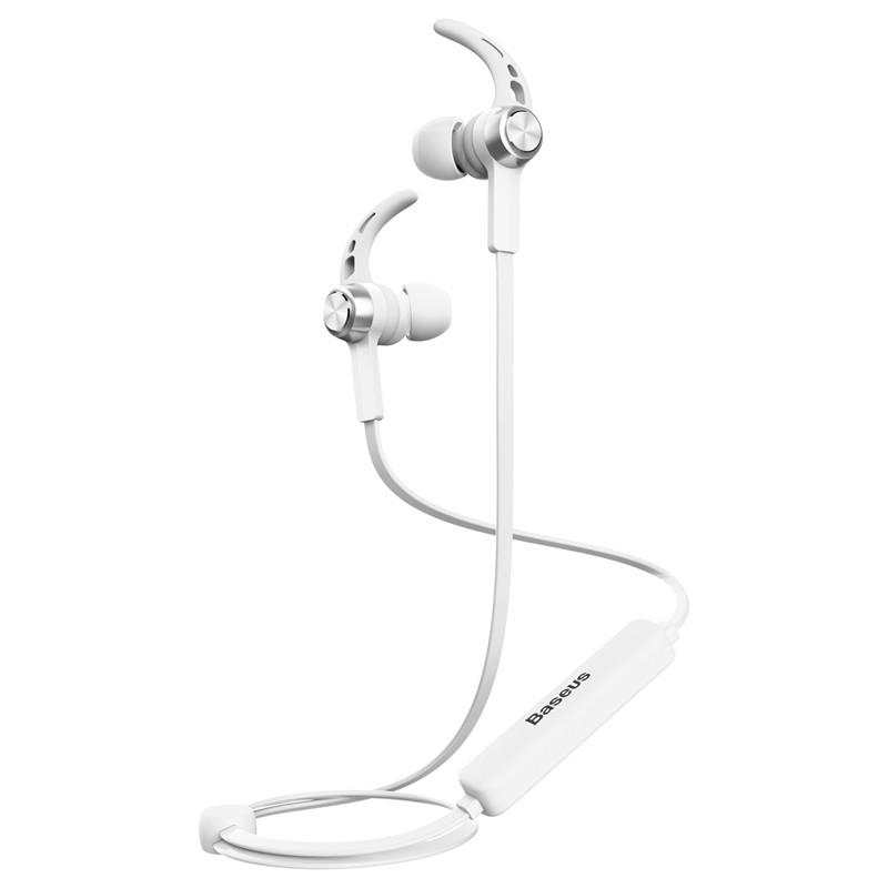 Baseus Bezdrátová sluchátka Magnetic - Bílá