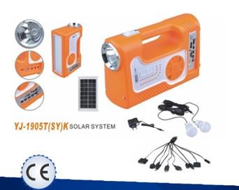 Dobíjecí camping lampa se solárním panelem