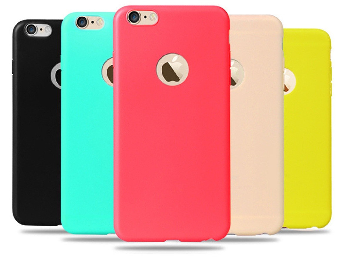 Candy Silikonový kryt na iPhone 6, 7 Plus - Černá / iPhone 7 Plus