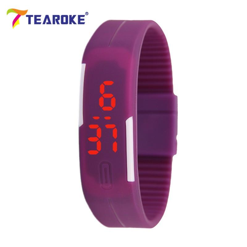 Dětské Tearoke sportovní hodinky - Fialová