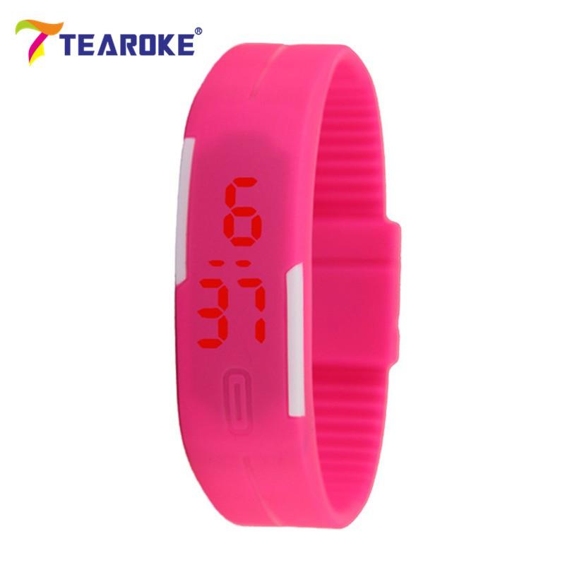 Dětské Tearoke sportovní hodinky - Růžová