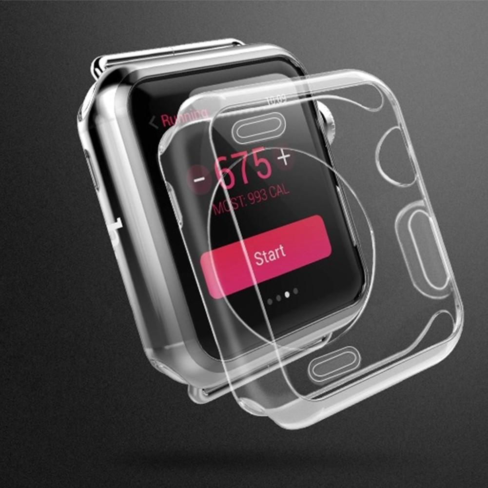 Crystal Clear TPU pouzdro pro Apple Watch - Průhledná / 42mm