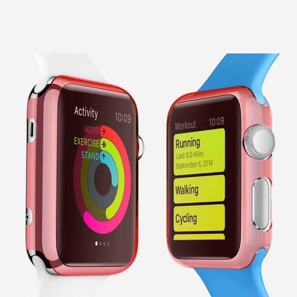 Crystal Clear TPU pouzdro pro Apple Watch - Růžová / 38 mm